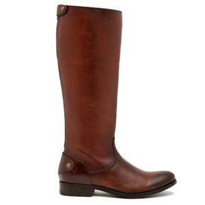 Frye Melissa Button Back Zipper Boot Cognac NIB
